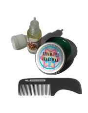 Dynamite Beard Wax 15ml, Dynamite Beard Oil 10ml and Dynamite Handmade Beard Comb Free Postage